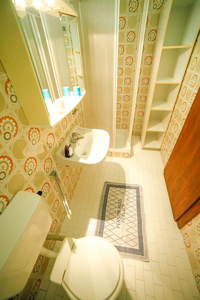 Zimmer 4 im Gästehaus Huss - Das Badezimmer